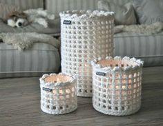 Crochet jar covers