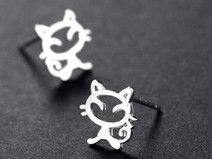 925 Sterling silber Katze Ohrring Tier