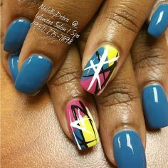 Instagram media by nailsbydebra91 - colorful nail art #slimmingbodyshapers How to accessorize your look Go to slimmingbodyshapers.com for plus size shapewear and bras