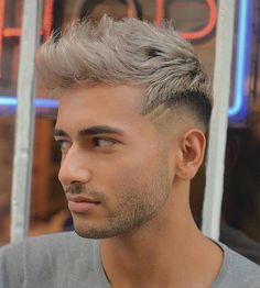 How To Style Hair Men Prepossessing Asian Mens Undercut With Bleached Whitepurple Top  Google Search