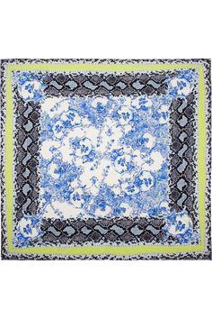 Erdem | Milandes printed silk-crepe scarf | NET-A-PORTER.COM