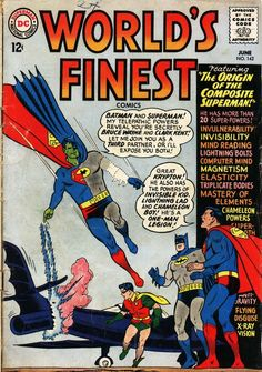 World's Finest Comics #142, june 1964, cover by Curt Swan and George Klein.