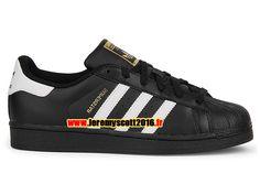 f0f69bf8cd996 Adidas Originals Superstar - Chaussure Adidas Sportswear Pas Cher Pour  Homme Femme Noir Blanc B 27140
