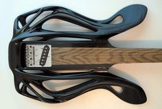 The 3D-printed Hybrid Slide Guitar sports a Telecaster-style bridge and single coil pickup