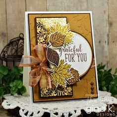 Grateful For You by PaperCrafty - Cards and Paper Crafts at Splitcoaststampers Scrapbooking, Scrapbook Cards, Halloween Cards, Fall Halloween, Fall Cards, Holiday Cards, Leaf Cards, Stamping Up Cards, Thanksgiving Cards