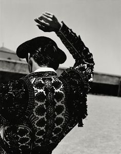 Photographed by Ruven Afanador for his book Torero. Cristobal Balenciaga was influenced by the exquisite details of the traje de luces ('suit of lights') a torero (bullfighter) wears.
