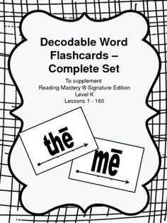 Reading Mastery Classic 1 (Red) Flashcards Lesson 1-160