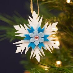 Chill out and add a lovely wintry touch to your Christmas tree with this Frozen-inspired snowflake ornament. ...