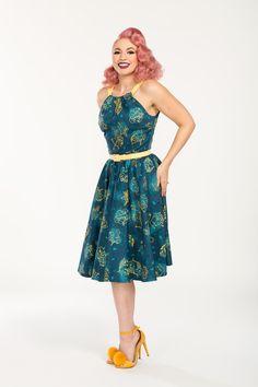 Harley Retro Dress in Astrology Print