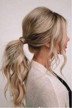 25 simple wedding hairstyles for guests that fit every dress code -. 25 Simple Wedding Hairstyles For Guests That Fit Any Dress Code - Big Southern Hair - S. Easy Wedding Guest Hairstyles, Curly Hair Styles, Hair Styles Work, Hair Inspiration, Cool Hairstyles, Hairstyle Ideas, Low Ponytail Hairstyles, Hairstyles For Long Dresses, Simple Homecoming Hairstyles