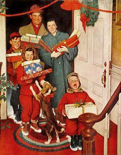 Sono innamorata di Norman Rockwell da quando so che Babbo Natale (non) esiste. Per me lui è Natale: mi ha trasmesso la #meraviglia del #sognare l'impossibile. Come ricevere una telefonata da Babbo Natale… #LessIsSexy #Xmas