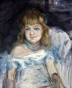 Édouard Manet (French, 1832-1883), Little Girl in an Armchair (Lise Campineanu), 1878. Oil on canvas transferred to board, 55.2 × 46.4 cm.