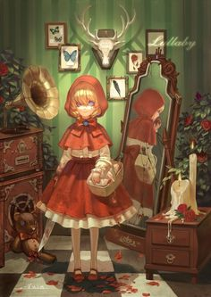 grafika red riding hood and anime