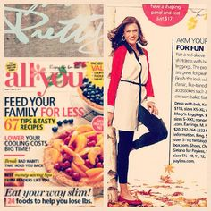Kensie long sleeve colorblock shirtdress, as featured in All You magazine, September 2012