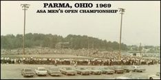 Parma Ohio State Road Park back when they hosted the big softball championships looked like this every year!