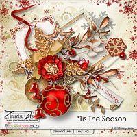 Tis The Season digital scrapbooking kit by Tiramisu design