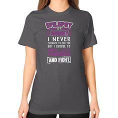 I NEVER EPILEPSY Unisex T-Shirt (on woman)