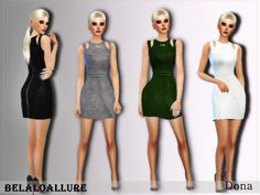 simple chic dress  will give your female sims sexy sharp look ,  Found in TSR Category 'Sims 4 Female Everyday'