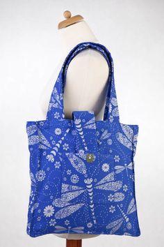 Lenny Lamb Shoulder bag Dragonfly Blue and White