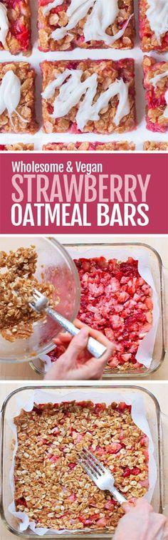 Easy Healthy Strawberry Oatmeal Bars
