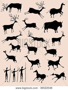 """Find """"african ancient"""" stock images in HD and millions of other royalty-free stock photos, illustrations and vectors in the Shutterstock collection. Native Art, Native American Art, Stone Age Art, Cave Drawings, 6th Grade Art, Art Premier, Painted Rocks Kids, Animal Silhouette, Doodles Zentangles"""