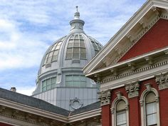 St Joseph, MO Buchanan County Courthouse dome by army.arch, via Flickr St Joseph Mo, Horse And Buggy, Our Town, Amazing Architecture, Missouri, Places To Go, Saints, City, Building
