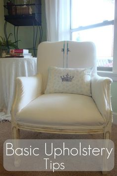 *Pink Postcard*: Basic upholstery tips