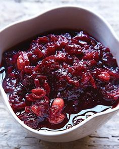 basic cranberry sauce w/ orange marmalade