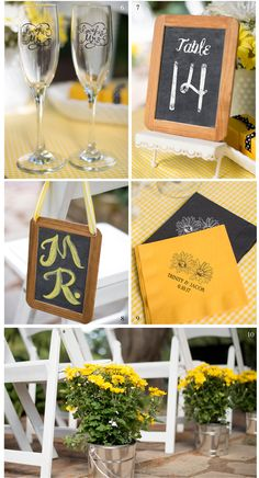 Chalkboard and Yellow Wedding Theme – The Details