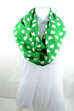 Shamrock/St. Patrick's Day Infinity Scarf  100 by WhimsyAbode, $15.99