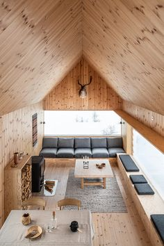 Hytte Sirdal Modern Tiny House, Tiny House Cabin, Chalet Design, Welcome To My House, Long House, Timber House, Home Room Design, Minimalist Home, Small Apartments