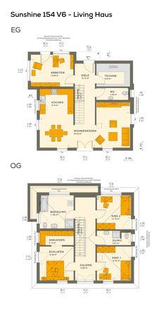 grundrisse stadtvilla modern im bauhausstil mit flachdach architektur 6 zimmer offener. Black Bedroom Furniture Sets. Home Design Ideas