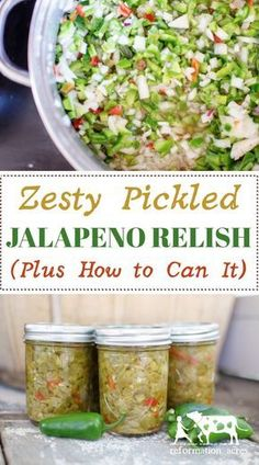 This stuff is SO good- My new favorite way to preserve jalapeno peppers! How to … This stuff is SO good- My new favorite way to preserve jalapeno peppers! How to Make & Can Zesty Pickled Jalapeño Relish Pickled Jalapeno Relish Recipe, Relish Recipes, Canning Recipes, Canning Tips, Tuna Recipes, Canning Jalapeno Peppers, Pickles Recipe, Fresh Jalapeno Recipes, How To Pickle Peppers