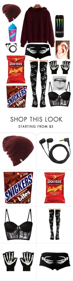 """""""lazy days"""" by dreaming-of-death ❤ liked on Polyvore featuring Sennheiser, I.D. SARRIERI and Killstar"""