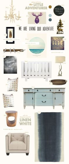 the-little-adventurer nursery inspiration style board