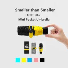 Quality Mini Pocket Umbrella Clear Men's Umbrella Windproof Folding Umbrellas Women Compact Rain Umbrella