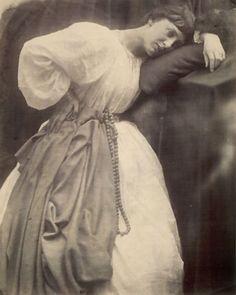 julia margaret cameron, pre-raphaelite study, 1870, via Flickr.