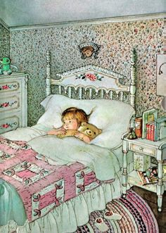 My favorite illustrator (in my childhood and now). I always thought her girls looked like me. And now like my girls. ❤ Eloise Wilkins Illustration.