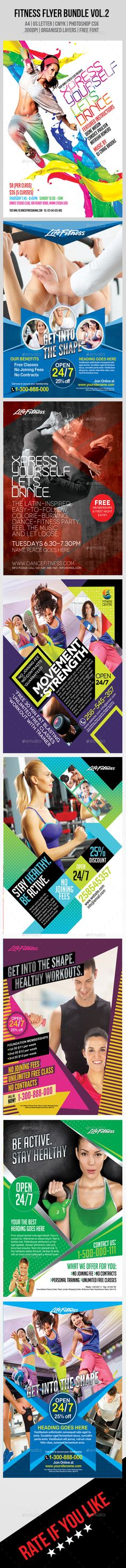 Fitness Flyer Bundle Template PSD   Buy and Download: http://graphicriver.net/item/fitness-flyer-bundle-vol2/8889236?WT.ac=category_thumb&WT.z_author=inddesigner&ref=ksioks