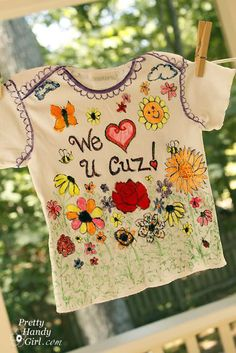 """How fun would it be to make everyone at a baby shower decorate a onesie/shirt for the baby? Beats playing """"guess the baby food""""."""