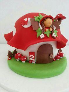 # paddenstoel #taart #kind #kindertaart #Mushroom #cake