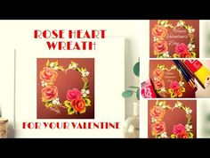 Valentines Day Painting | Pink Roses Painting | Acrylic painting | one stroke painting - YouTube
