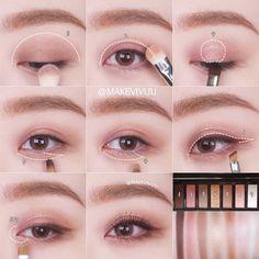 "History of eye makeup ""Eye care"", put simply, ""eye make-up"" has always been a Korean Eye Makeup, Korea Makeup, Asian Makeup, Cute Makeup, Simple Makeup, Beauty Makeup, Fox Makeup, Dead Makeup, Clown Makeup"