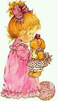 Girl with bear...