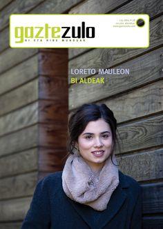 Gaztezuloren 136. alean Loreto Mauleon antzezlea izan zen azaleko protagonista.