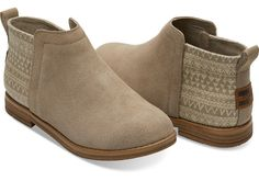 Youth TOMS Desert Taupe Deia Bootie