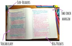 Seven tips on how to take notes from a textbook.
