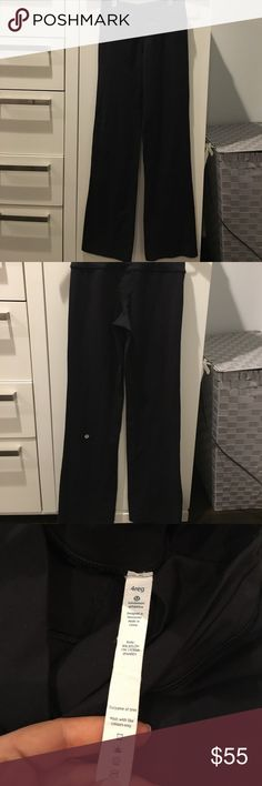 Black Lululemon yoga pants Only worn a couple times!! In excellent condition with no pilling!! lululemon athletica Pants Wide Leg