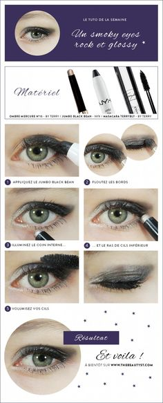 Tuto maquillage pour un smoky eyes rock et glossy