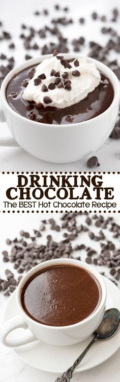 Drinking Chocolate - an easy hot chocolate recipe that tastes like you're drinking liquid ganache!